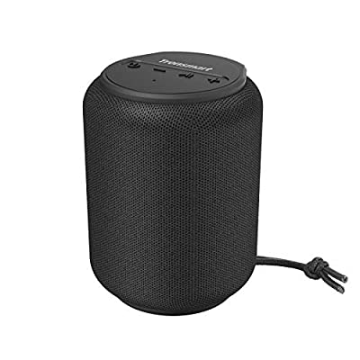 Bluetooth speakers 5.0, Tronsmart T6 Mini 15W Wireless Portable Outdoor Speaker with 24 Hrs Playtime, Extra Bass, IPX6 Waterproof, Support TF/Micro SD Card, Voice Assistant by Tronsmart