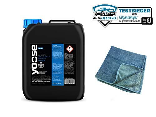 yoose Felgenreiniger (5 Liter + Mikrofasertuch)
