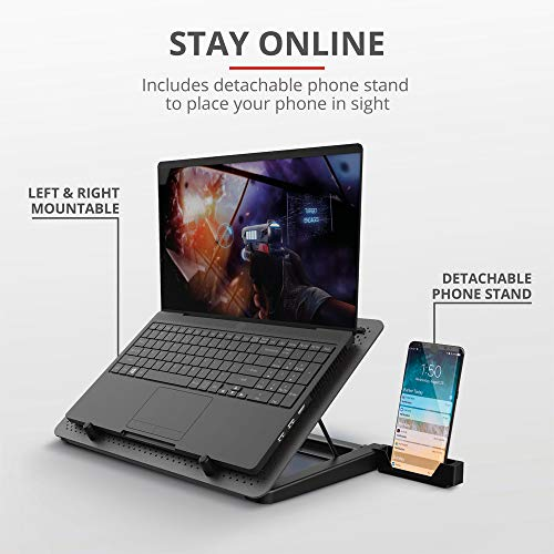 Trust Gaming Laptop Kühler GXT 1125 Quno Cooling Pad, Cooler Ständer, LED-Beleuchtung, 5 Lüftern, Verhindert Überhitzung, für Laptops / Notebooks / Macbooks bis 17,3 Zoll