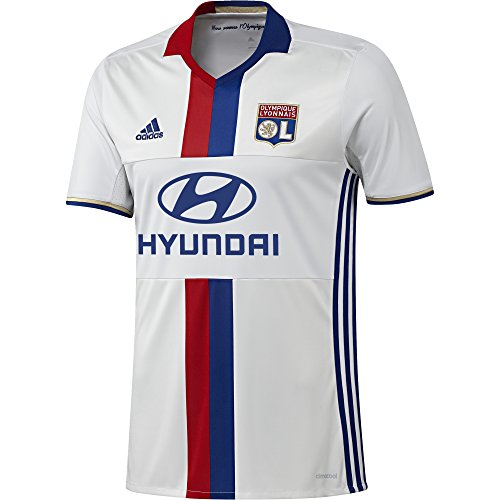adidas Herren Olympique Lyon Heim Replica Trikot, White/Collegiate Royal/Red S09, XL