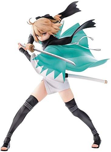 Anime Figura de acción muñeco Fgo Sabre Souji Okita Anime Figura Figura Fate Grand Order PVC Figuras de PVC Modelo Coleccionable Estatua Estatua Toys Adornos de Escritorio