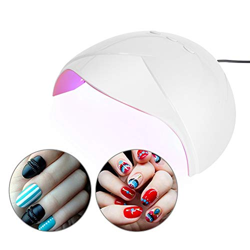 Nagellak uithardingslamp, professionele nagellamp in salonkwaliteit, USB-nageldroger met 36 W en ledlamp, nagellamp voor gel nagellak (EU).