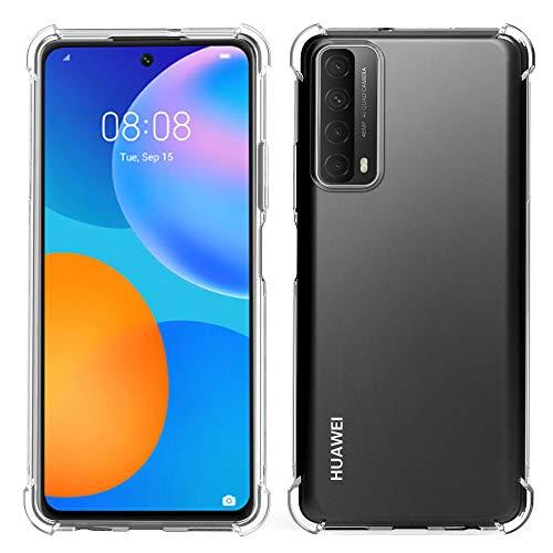 Migeec Hülle für Huawei P smart 2021 Transparent [Stoßfest] Weiche Silikon [Kratzfest] Flex TPU Bumper handyhülle Durchsichtige Schutzhülle