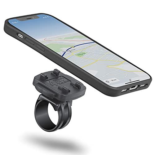 Wicked Chili QuickMOUNT Set kompatibel mit iPhone 12/12 Pro (6.1 Zoll) Schutzhülle flach, passgenau, abnehmbar/Schnellverschluss Handyhalterung für Fahrrad und Motorrad/Bike Mount Halterung