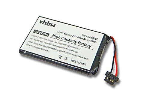 vhbw Li-Ion Akku 850mAh (3.7V) für Navigation, GPS Navigon 1400, 1410, 2400, 2410 wie LIN363002.