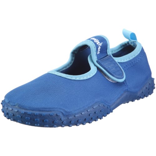 Playshoes Unisex-Kinder Aqua-Schuhe Klassisch, Blau (Blau 7), 24/25