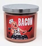 S&M Candle Factory Bacon Candle Large 3 Wick Candle ~ Bacon Lovers!!! ~ 80 Hour Burn Time ~ Made in USA (Bacon)