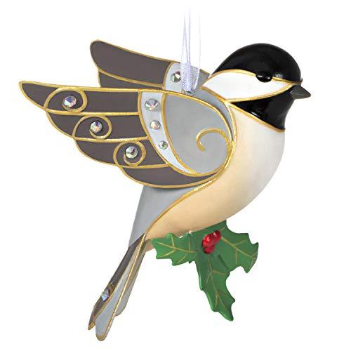 Hallmark Keepsake Christmas Ornament 2020, Beautiful Black-Capped Chickadee, Porcelain