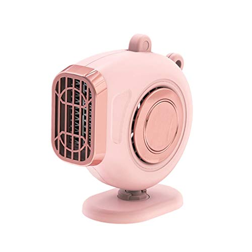 ZYING 150W Car Heater Defrosting Electric Heater Fan 360° Rotating Rapid Heating Car Warmer Window Mist Remover Car Van Heater (Color : Pink)