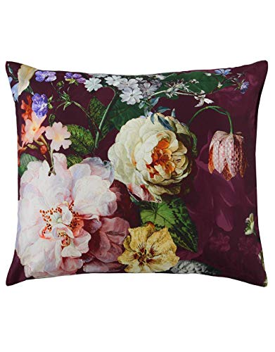 Essenza reversible duvet cover set satin dark berry size 80x80 cm / 155x220 cm