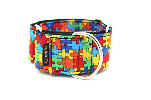 candyPet Collar Martingale para Perros - Modelo Puzzle, L
