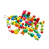 Perlas De Cordón para Niños Material Montessori para Niños Pequeños, En...