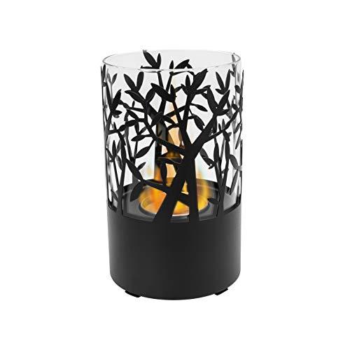 Biokamino bio-ethanol tafelhaard Orfeo zwart elektrische haard milieuvriendelijk bio-ethanol brander 0,4 l vorm cilinder
