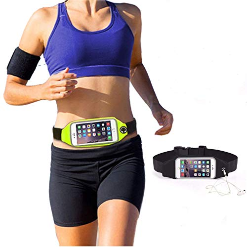 Veloz I Nylon I Running Belt Waist Pack I for All Phone Models I with 2 Compartment and Reflective Tape I for Hands Free Running, Exercise, Workouts, Travel