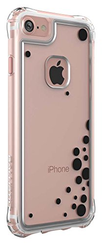 iPhone 7 Case, Ballistic [Jewel Essence] Six-sided Drop Protection [Clear w/ Rose Gold Dancing Bubbles] 6ft Drop Test Certified Case Reinforced Corner Protective Bumper for Apple iPhone 7 - (JE1738-B4