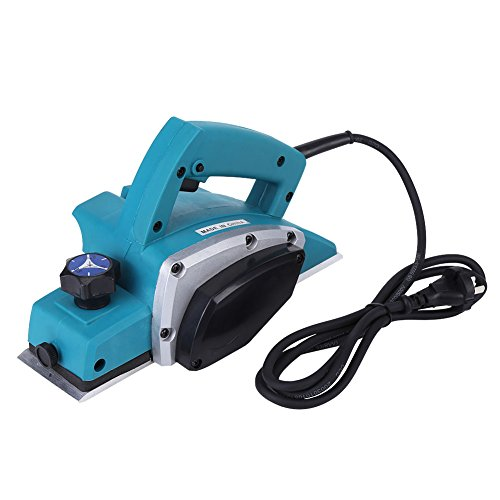 214 Hand Planer,220V 800W 13000-16000RPM Power Electric Hand Handheld Planer Kit with 8.4cm/3.31Inch Planer Blade,Low Heat,High Power,for Woodworking