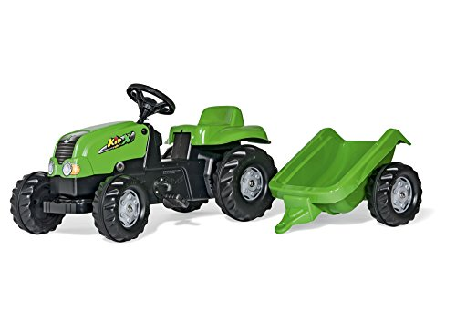 Rolly Toys rollyKid-X Trettraktor mit Anhänger (für Kinder von 2,5 bis 5 Jahren, Heckkupplung) 012169