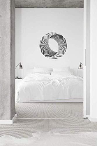 Home Art Deco Illusion Mobius Sun Geometry Camera Da Soto Soggiorno Decoración Decorazione 42 * 42Cm