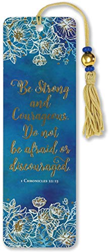 Be Strong and Courageous Beaded Bookmark