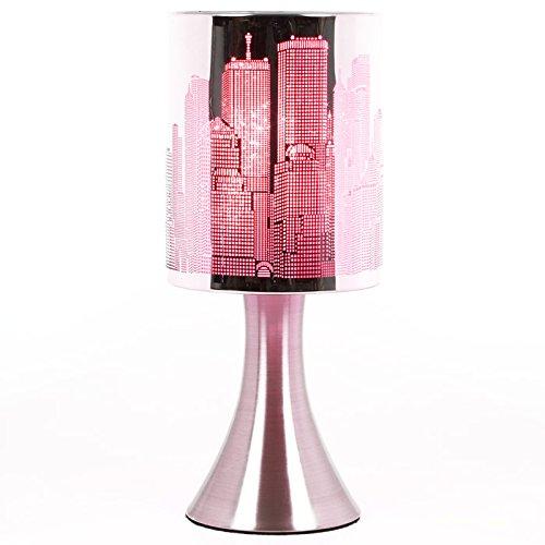 Générique Lampe New York Tactile sans Interrupteur - 3 intensités Lumineuses - Rose