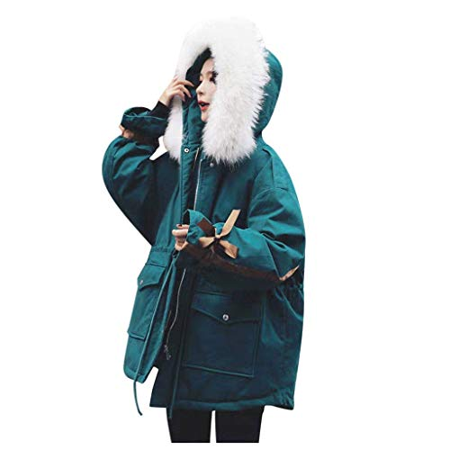 Abrigo De Invierno Mujer Libre Abrigos para Mujer Rebajas Talla Grande Abrigo con Capucha Vintage Cremallera Señoras Abrigos con Bolsillos Gruesos Moda SóLido Casual nvierno CáLido Abrigo Suelto