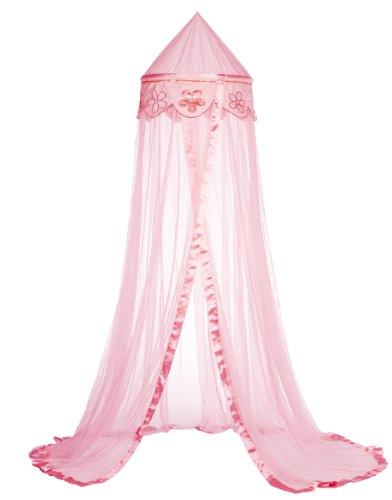 Taftan Ciel de Lit Fleurs rose - Rose