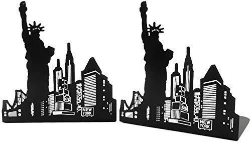 ACOOME Una coppia Vintage Moda Europea Architettura Stile Decorativo Fermalibri Ispessimento Ferro Libro Fine Biblioteca Ufficio Casa Studio Metallo Fermalibri Fine Libro Regalo