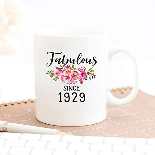 90 cumpleaños Ideas 90 años mujer 90 años 90 años regalos para mujer regalos de 90 cumpleaños para ella desde 1929 taza 90 años de edad mujer