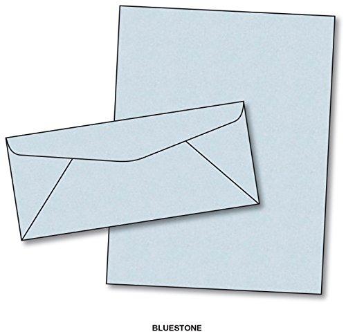 Blue Parchment Paper & Matching Envelopes - Color: Bluestone - 50 Sets