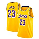 JINHAO Camiseta de Baloncesto Masculino NBA Lakers # 23 Lebron James Mesh Basketball Swingman...