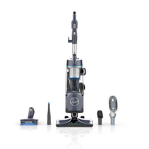 Hoover React Powered Reach Plus Upright Vacuum Cleaner, with Portable Lift Canister for Extended Reach, 30ft. Power Cord, Blue, UH73510PC