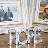 Paper High Cartel de acero inoxidable reciclado, 19 cm x 8,5 cm | Comercio justo y hecho a mano | Nueva decoración del hogar regalo repisa metálica ornamento