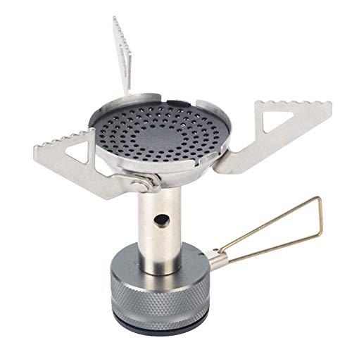 Mini Estufa Sawpy 3000W aleación al Aire Libre Plegable Mini Horno de Camping Horno de Supervivencia Estufa de Bolsillo Picnic Cocina Quemador de Gas Cocina