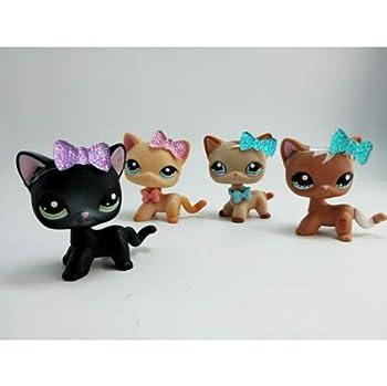 Pet Shops 4X Littlest LPS Shorthair Cat #336 #339 #1024 #1170 & Accessories