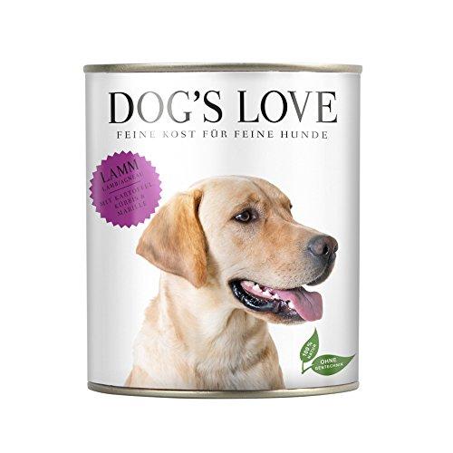Nassfutter Hund getreidefrei hergestellt in Österreich in Premium Qualität für ausgewachsene und ernährungssensible Hunde – von Veterinären geprüft – Lamm Adult (6 x 800g)