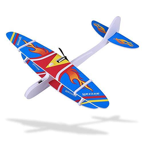Goglor Planeador de Espuma, niños, con Condensador de Aviones, con Planeador de Mano eléctrico, Modelo de avión, Regalo para niños