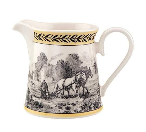 Villeroy & Boch Audun Ferme Lechera baja, 300 ml, Altura: 8,6 cm, Porcelana Premium, Blanco/Colorido