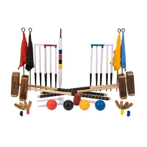 Übergames Absolutes Champion Profi-Croquet / Krocket Set für höchste Ansprüche, Das Championchip Krocket Set - hochwertiges Krocketspiel aus ECO-Holz