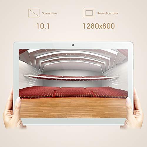 Tablet 10 Zoll Android 8.1, Padgene Tablet PC 3G Phablet mit 2 GB RAM 32 GB ROM, 1280 x 800 G+G Bildschirm, Dual SIM Karten Slot Dual Kamera 2MP/5MP WiFi entsperrt Bluetooth GPS
