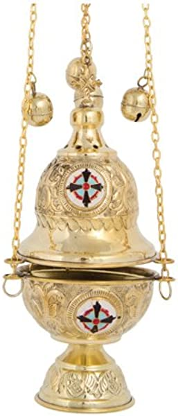 Brass Christian Church Thurible Incense Burner Censer 377 B