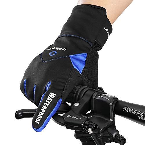 Inbike Fahrradhandschuhe Winter Thermo Gepolsterte Handfläche Radsport Gel Handschuhe Windddichte(Blau,L) - 2