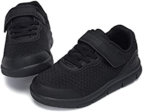 Nihaoya Boys Sneakers Casual Walking Shoes Kids Knit Cute Athletic Running Shoes Black 10 Toddler