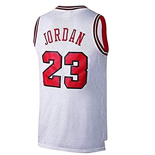 SHUWNSJ Ropa De Baloncesto Camiseta Retro para Hombre Michael Jordan # 23 Deportes De Baloncesto Camiseta De Chicago Camiseta Deportiva Sin Mangas (D,Small)