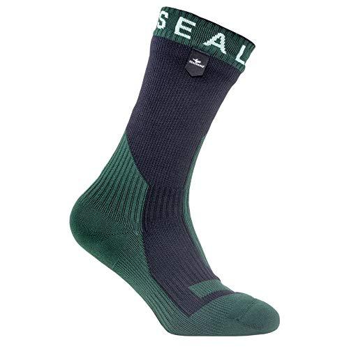 SealSkinz - Radsport-Socken für Damen in Schwarz/Renngrün, Größe M