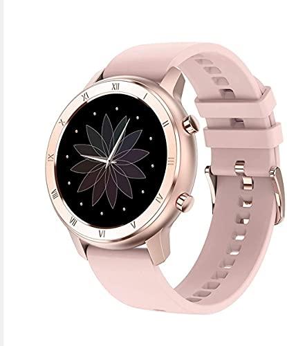Relojes inteligentes Relojes inteligentes Relojes deportivos Fitness Trackers con monitores de sueño-rosa