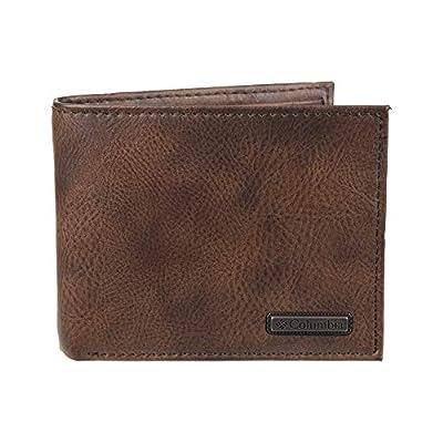 Columbia Men's RFID Security Blocking Extra-Capacity Slimfold Wallet, Tan Kerns, One Size