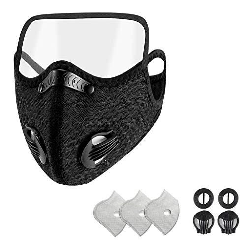 Morran Staubmaskes Fahrradmaskes Outdoor Trainingsmaskes für Motorrad Radsport Training Running Radfahren(Kind,1PC+2 valve+3 filter)