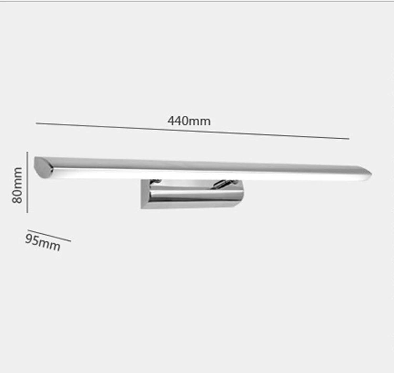 THOR-BEI Led Badezimmerspiegel Scheinwerfer Einfache Bad Wandleuchte Wasserdicht Und Anti-Fog Badezimmerspiegel Licht -744Spiegellampen (Farbe   Warmwei)