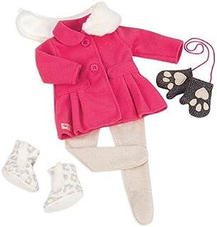 ملابس دمية الجليد سنو سويت من اور جينيراشن طراز 70.30226، باللون الزهري والابيض، مقاس 18 انش