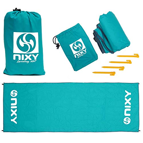 NIXY Landing Mat Paddle Board Ground Tarp 142' x 57', Quick Drying, Durable, Sand and Dirt Resistant, Nylon, Best for Water Gear, Blue